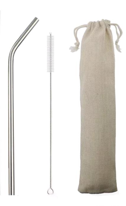 Металлическая трубочка+ершик+мешочек