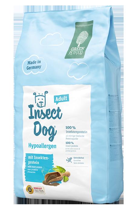 Green Petfood (Грин Петфуд) InsectDog Hypoallergen гипоаллергенный корм для собак с белком насекомых, 10 кг