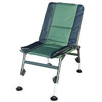 Кресло складное карповое Ranger Fish Guets (690х450х440мм), зелёный/черный