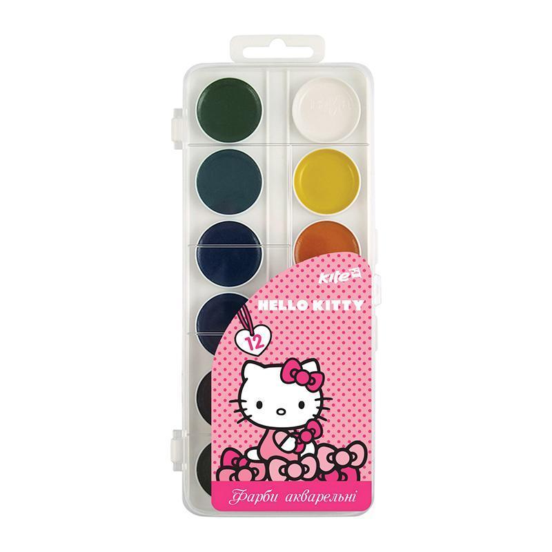 Краски акварельные Kite Hello Kitty 12 цветов