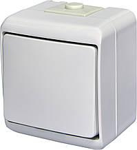 Выключатель 1-клавишный с подсветкой IP54 ETI VHE-1L 10А 250В белый HERMETICS 4668007 наружный влагозащищенный