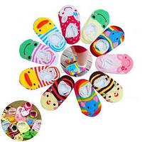 Яркие носочки для малышей с антискользящей защитой