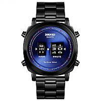 Необычные часы  Skmei 1531 The Drum watch Blue, фото 1