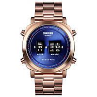 Необычные часы  Skmei The Drum watch  Gold