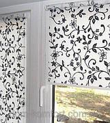 Рулонные шторы ткань с рисунком и фактурой, цветочные, растительные узоры и орнаменты