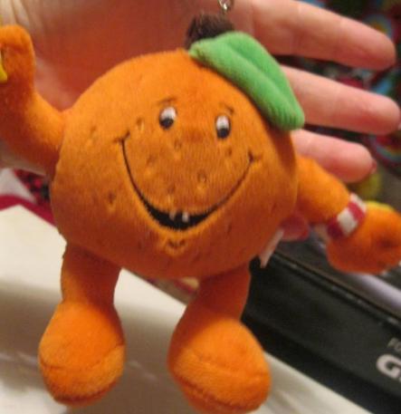 Брелок на ключи или порфель мягкая игрушка апельсин теннис Украина МРИЯ
