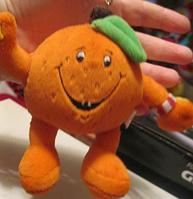 Брелок на ключи или порфель мягкая игрушка апельсин теннис Украина МРИЯ, фото 1
