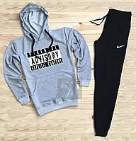 Зимний спортивный костюм, теплый костюм Nike Кенгуру, толстовка, синий, с3131