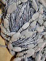 Штори нитки Плюшеві сірі