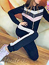 """Женский спортивный костюм на змейке """"Люрекс трехцветный змейка"""", фото 2"""