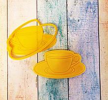 Формочка-вырубка для пряника + штамп Чашка с блюдцем