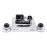 Комплект видеонаблюдения из 2-х камер и видеорегистратора GreenVision GV-K-S15/02