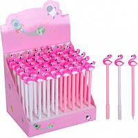 Ручка гелевая детская с фигуркой/фламинго