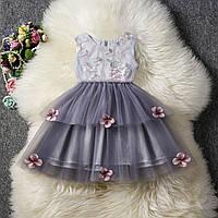 Нарядное платье для девочки размер 104.