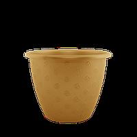 Горшок цветочный Верона 21х16,5 см бронзовый 3,2 л , Украина