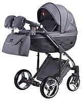 Детская коляска 2 в 1 Adamex Chantal Polar (Graphite) C4 темно-серый, фото 1