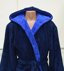 Мужской халат махровый длинный, с капюшоном 46-66 р-ры, фото 3