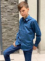 Рубашка для мальчика 7-14 лет