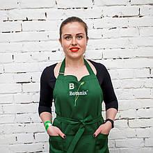Профессиональный фартук косметолога Botanix by GLORIA (Зеленый)