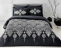 Комплект постельного белья ТАС Rodos siyah сатин де люкс 220-200 см