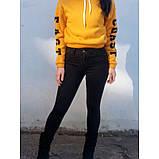 Облегающие джинсы женские с высокой посадкой большого размера демисезон американка  HEPYEK  черный, фото 6