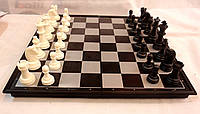 Набор шашки, шахматы, нарды магнитные 36 см, фото 1