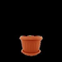 Горшок цветочный Терра 10х8 см терракота 0,35 л , Украина