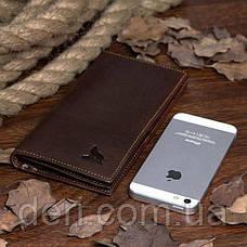 Купюрник мужской Vintage Коричневый, Коричневый, фото 3