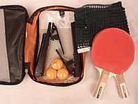 Набор ракеток для настольного тенниса Dunlop с сеткой в чехле, фото 1