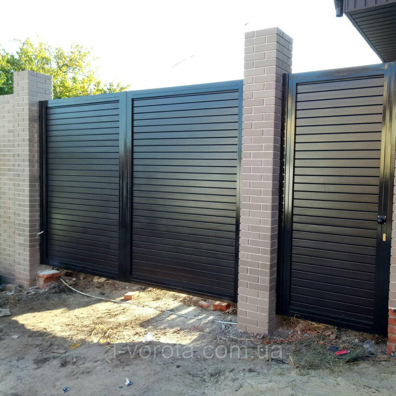 Распашные ворота ТМ Хардвик ш3500, в2100 (дизайн стандарт)