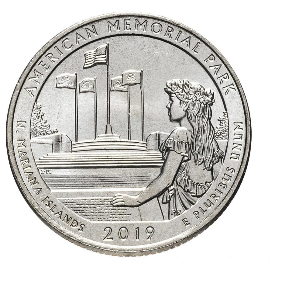 25 центів 47 - й парк США Американський меморіальний парк