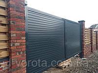 Распашные ворота ТМ Хардвик ш3500, в2100 (дизайн стандарт), фото 3
