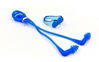 Беруши и зажим для носа, силикон, голубой (HN-4B-(bl))