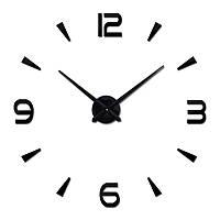 3-D Часы большие  настенные черные черточки диаметром до 80 см