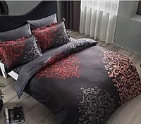 Комплект постільної білизни ТАС Rodian siyah сатин де люкс 220-200 см, фото 1