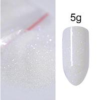 Песок для декора ногтей  ( белый), фото 1