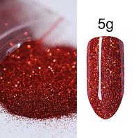 Песок для декора ногтей  ( красный ), фото 1