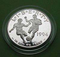 США 1 долар 1994 р. Чемпіонат світу з футболу в США . Пруф