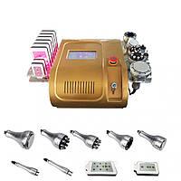 Аппарат 8 в 1 лазер Lipo + Кавитация 40K + RF + вакуум/RF подтяжка лица, lipolaser fat