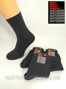 Махровые однотоные х/б носки синие 25р. (39-40обувь)