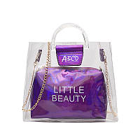 Женская летняя прозрачная сумка Little Beauty фиолетовая