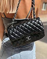 Женская сумка стеганная черная