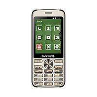 Громкий телефон кнопочный в металлическом корпусе с большим экраном Assistant AS-204