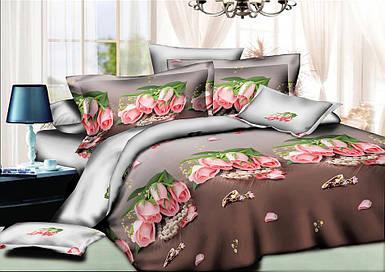 Постельное белье полуторное 150*220 хлопок (8916) TM KRISPOL комплект постельного белья полуторный