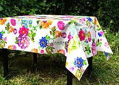Клеёнка-скатерть на дачу, в столовую  с цветочным узором