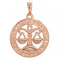 Подвеска Знак зодиака Весы 2 см (Медицинское золото)