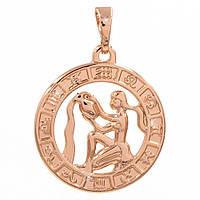 Подвеска Знак зодиака Водолей 2 см (Медицинское золото)