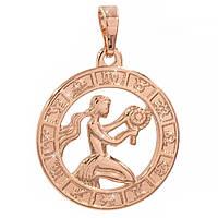 Подвеска Знак зодиака Дева 2 см (Медицинское золото)