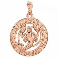 Подвеска Знак зодиака Рак 2 см (Медицинское золото)