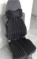 Ортопедическая эко подушка - накидка на авто кресло (TIR) в комплекте с подушкой на подголовник. Универсальная
